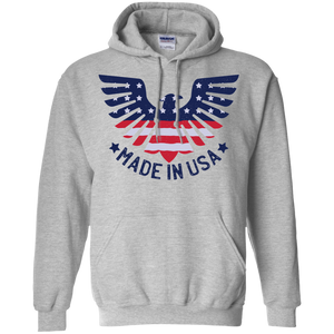 Made In USA Pullover Hoodie 8 oz.