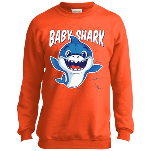 Youth Baby Shark Crewneck Sweatshirt