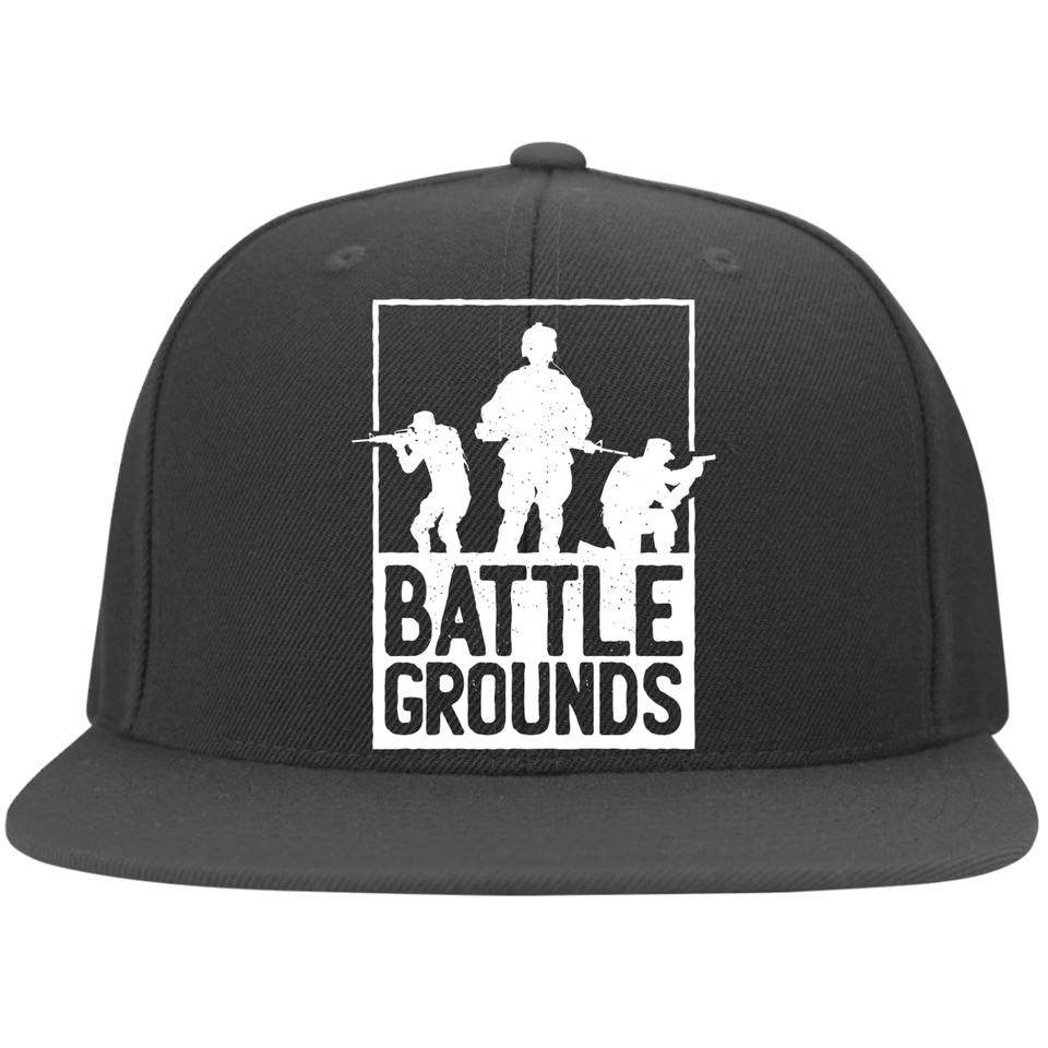Battle Grounds FLEXFIT Flat Bill Twill Cap