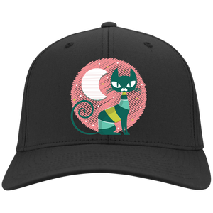 Moon Cat Flex Fit Twill Baseball Cap