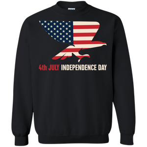 Independence Day Crewneck Pullover Sweatshirt 8 oz.