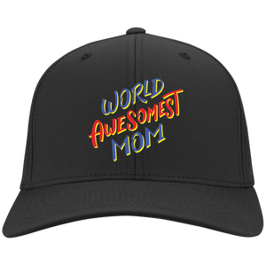 World Awesomest Mom Flex Fit Twill Baseball Cap