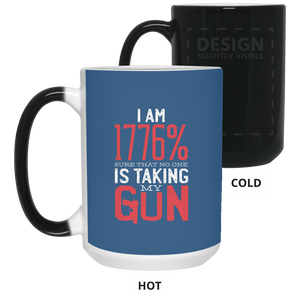Gun 15 oz Color Changing Mug