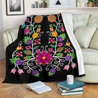 Floral Beadwork-01 Ultra-Soft Micro Fleece Premium Blanket