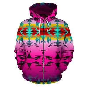 Between the Cascade Mountains Sokapi Zipper Hoodie