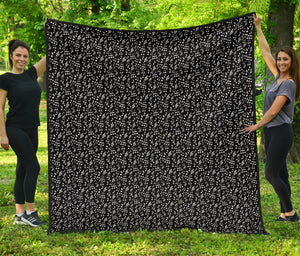 Black Notes Design Quilt