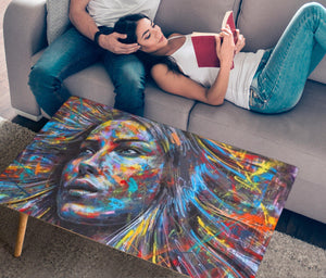 Graffiti Girl Rectangular Coffee table