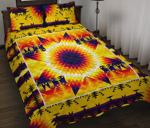 Electric Powwow Star Quilt Bed Set