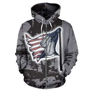 Courage and Sacrifice Zip Up Hoodie
