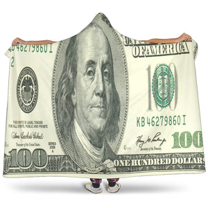 $100 Bill Hooded Blanket