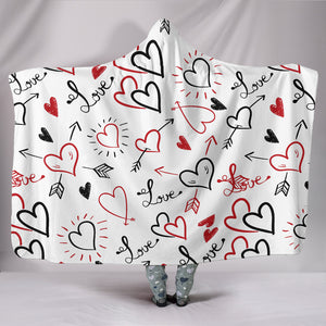 Love Top Quality Hooded Blanket