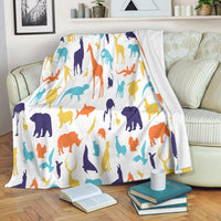 Safari Animals Premium Blanket