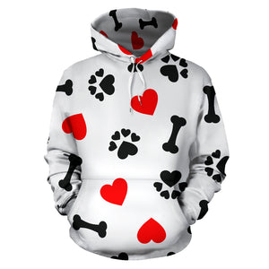 Dog Love All Over Hoodie