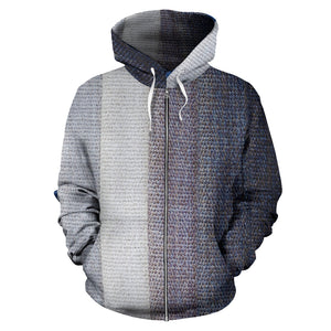 Cloth Zip-Up Hoodie