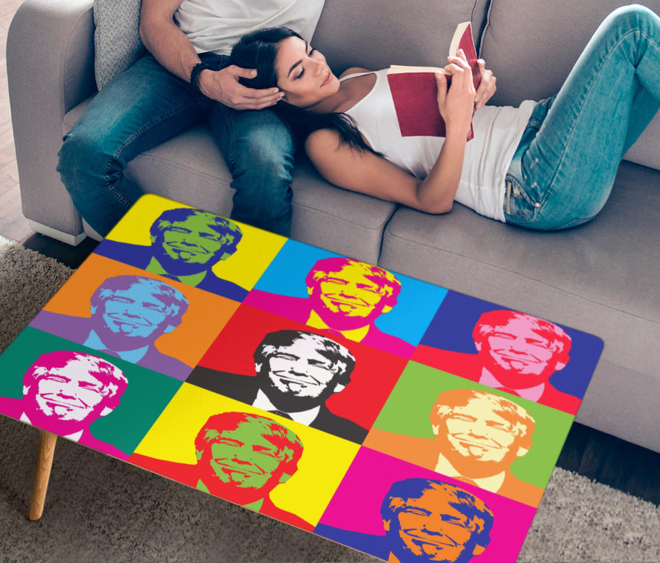 Trump Pop Art Rectangular Coffee Table (USA Only)
