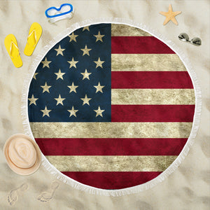 US Flag Beach Blanket