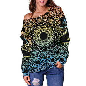 Yoga Vibes Women's Off Shoulder Sweater