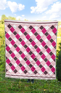 Diamonds In The Rough - Pink/Brwn Quilt