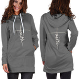 Faith Hoodie Dress Gray