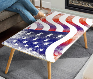 USA Flag Rectangular Coffee Table (USA ONLY)