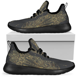 Mesh Golden Lotus Mandala Men's Black Sole
