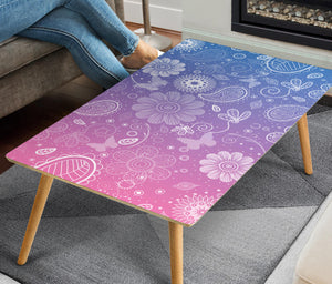 Butterfly Flower Rectangular Coffee Table (USA ONLY)