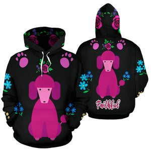 Faithful Poodle Dog All Over Print Hoodie Cute Poodles Dogs