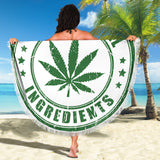 All Natural Ingredients Beach Blanket