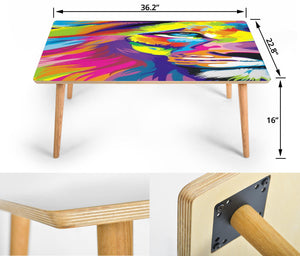Lion Color Blast Rectangular Coffee Table (USA ONLY)