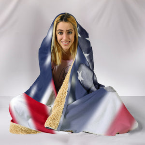 American Peace Hooded Blanket