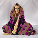 Between The Mountains Berry Hooded Blanket