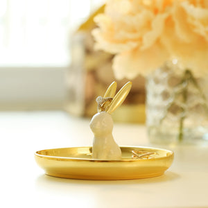 Ceramic Rabbit Ring Holder/Jewelry Tray