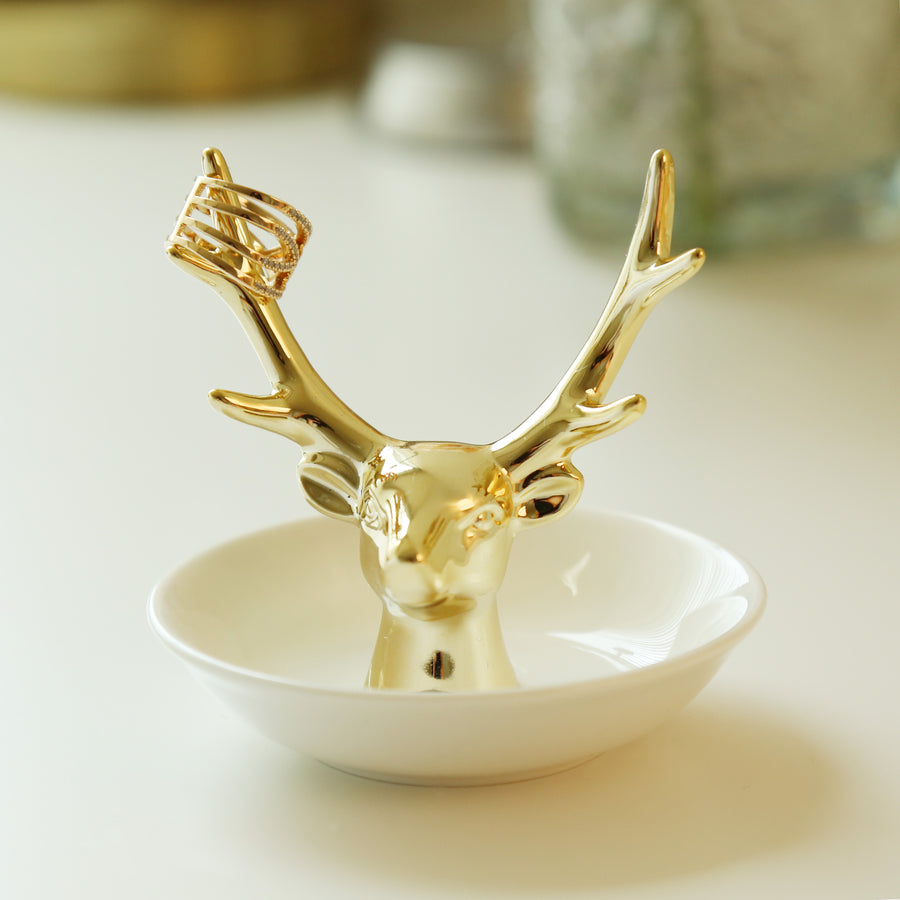 Ceramic Deer Head Ring Holder/Jewelry Tray