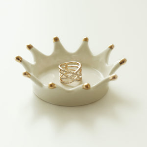 Ceramic Crown Ring Holder/Jewelry Tray