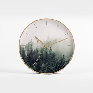 FOREST MIST ART CLOCK