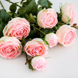 Pink Real Touch Roses (3-head)