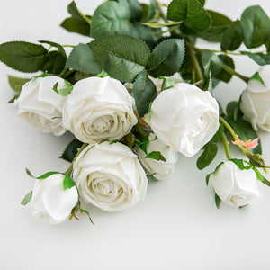 Real Touch Roses and Hydrangea - White