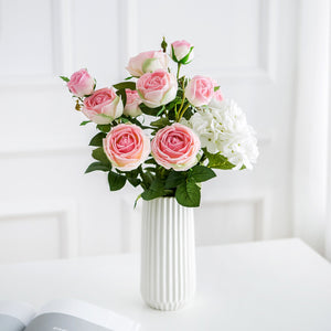 Real Touch Roses and Hydrangea - Pink