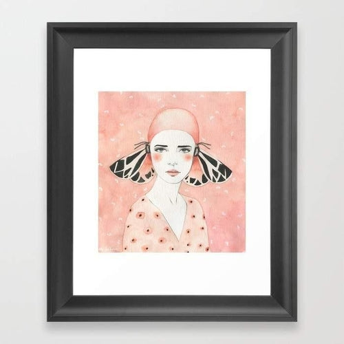 Wall Art - Girl in Pink Background
