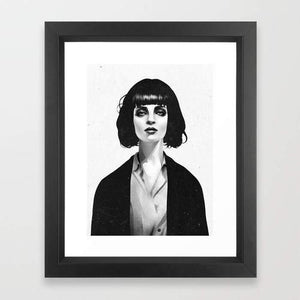 Wall Art - Woman in Black and White