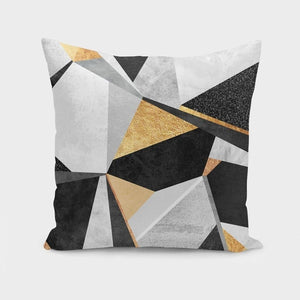Geometry  Gold Pillow Case