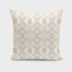 Golden Geo Pillow Case