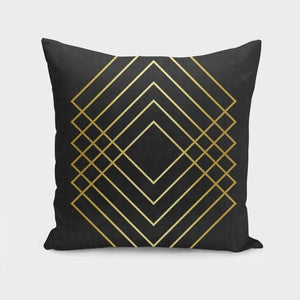 Minimalist and golden art I Pillow Case