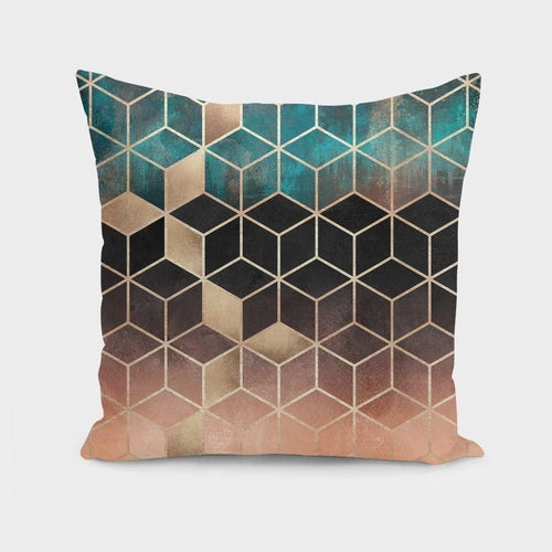 Ombre Dream Cubes Pillow Case