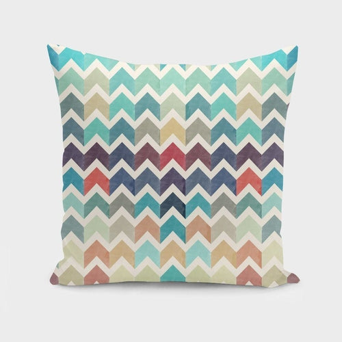 Watercolor Chevron Pattern II Pillow Case