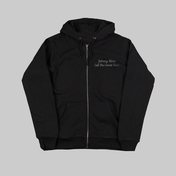 CALL THE COMET BLACK ZIP HOODIE