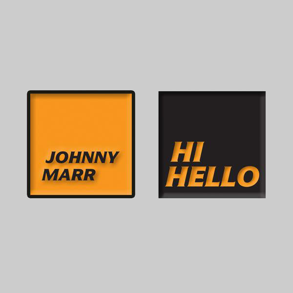 HI HELLO ENAMEL PIN BADGE SET