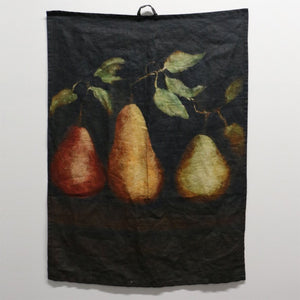 Raphael Vintaged 100% French Linen Tea Towel - Trois Poire