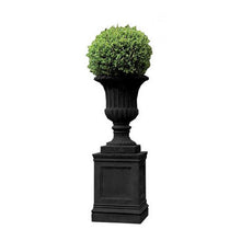 Large Tall Black Urn with base (available March / April 2021)