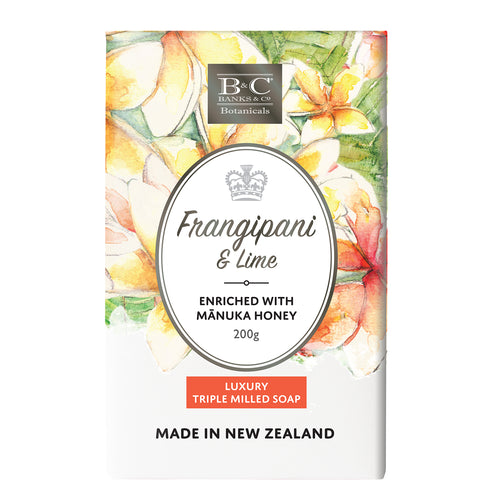 Banks and Co Frangipani & Lime Luxury Triple Milled Soap 200gm